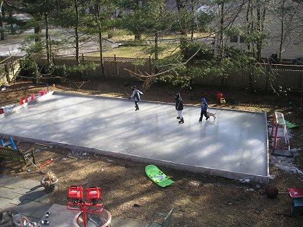 how to make a backyard rink