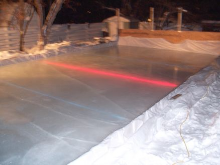 Rink Rope Lights Under Ice